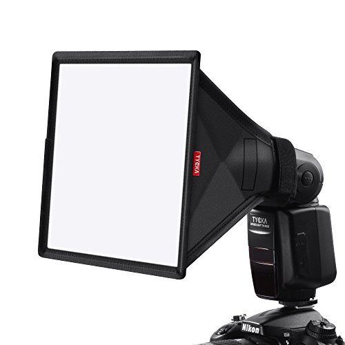 TYCKA 23 x 18cm Difusor de Flash Softbox (Universal, Plegable) para Nikon, Canon, Sony, yongnuo y Otros Flashes DSLR