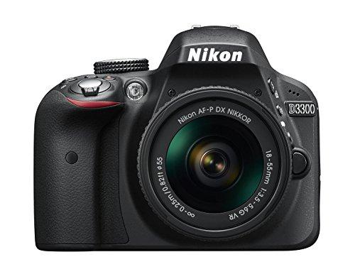 Nikon D3300 + 18-55 AFP DX VR - Cámara réflex digital de 24,2 Mp (pantalla LCD 3', estabilizador, vídeo Full HD), color negro - kit con objetivo 18-55MM AFP DX VR