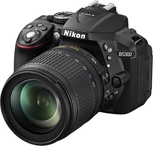 Nikon D5300 - Cámara réflex Digital de 24.2 MP (Pantalla 3.2', estabilizador óptico, vídeo Full HD), Negro - Kit con Objetivo AF-S DX 18-105mm VR [Importado]